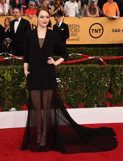 Emma Stone de  Christian Dior Couture en los premios Sag 2015