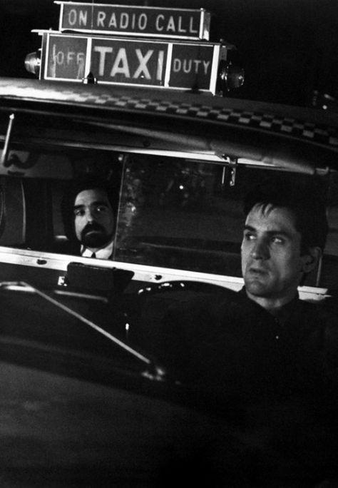 Martin Scorsese and Robert De Niro in Taxi Driver
