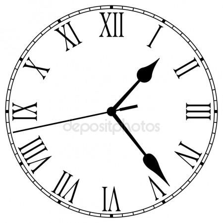 Image Result For Roman Numeral Clock Outline Clock Face Clock Face Printable Analog Clock