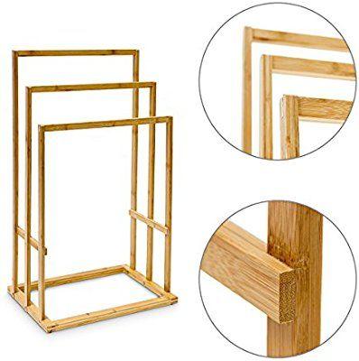Bambus Handtuchhalter 40 x 24,5 x 82 cm Handtuchständer - handtuchhalter für küche