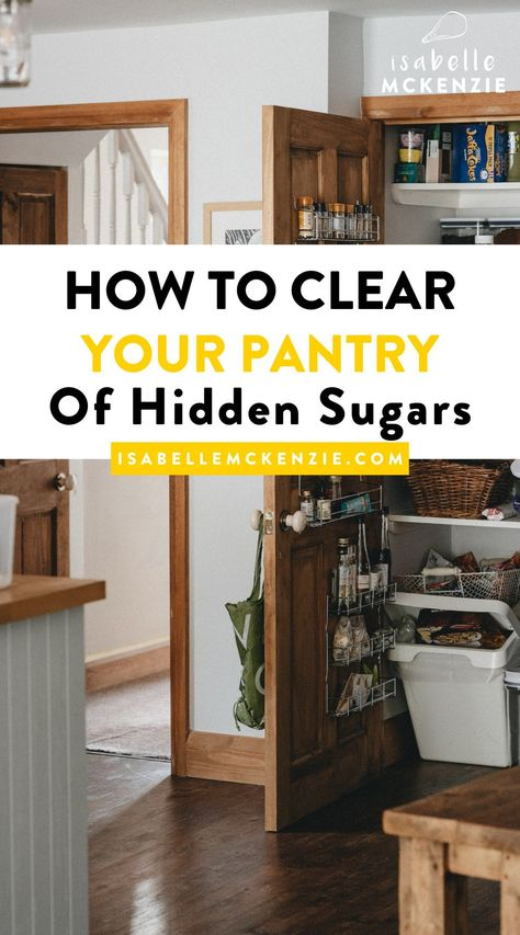If you're looking to lose weight, be healthy, or stay sugar free or low-sugar, then let's get clearing out your kitchen, and take a look at my helpful breakdown for creating a healthier, and sugar free pantry. #sugarfree #lowsugar #healthyeating #cleaneating #diet #healthyliving #weightloss #healthyeating #healthylivingideas #wellness