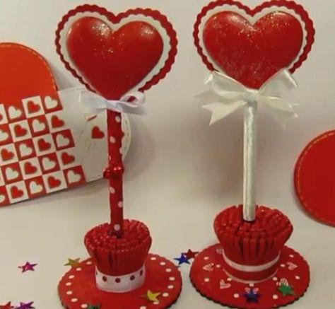Bolígrafo corazón. Heart pen. (San Valentín)