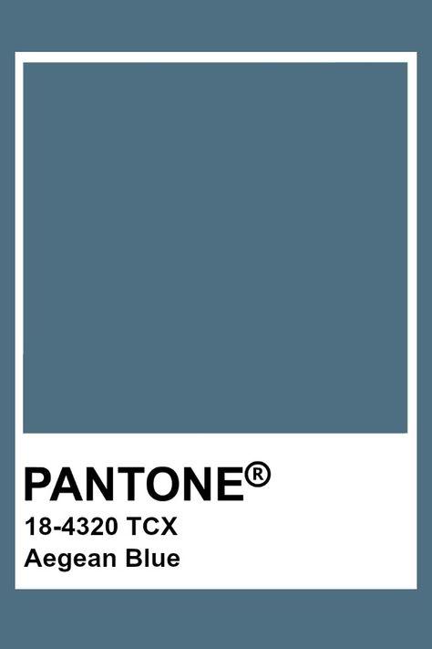 Pantone Aegean Blue
