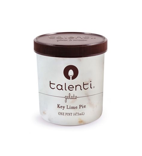 Talenti Key Lime Pie gelato.   Key Lime Pie Talenti is a tangy, creamy key lime gelato with graham cracker swirls and pieces throughout. A dessert within a dessert is a beautiful thing, but a dessert inside a Talenti? Now that's next level.