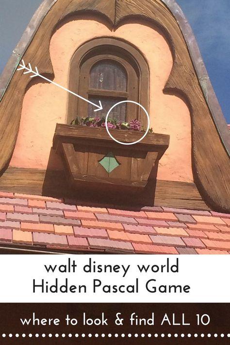 Where to find pascal at walt disney world magic kingdom. #hiddenpascalgame #disneygames #disneytangledgames