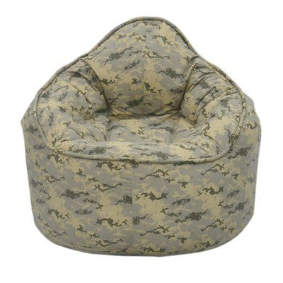 Zoomie Kids The Pod Kidsteen Bean Bag Chair Upholstery Color Light Camo Upholstery Material Cotton Blend Products Bean Bag Chair Modern Bean Bags Bean