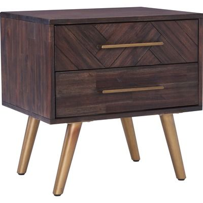 Sivan Bedside Table With Images Charcoal Bedside Table Wood