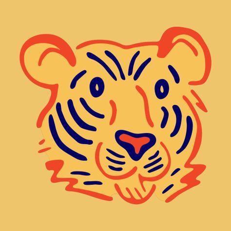 Furry Tiger Portrait