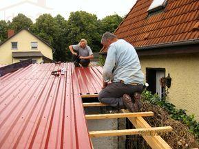 Trapezblech Montage Foto Idee Fur Den Schuppen Trapezblech Trapezblech Dach Dachplatten