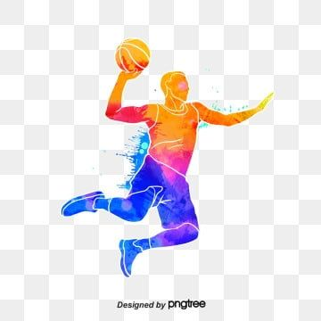 Silhouettes Of Creative Basketball Players Multicolored Character Sports Png Transparent Clipart Image And Psd File For Free Download Basketball Players Cartoon Clip Art Basketball Posters