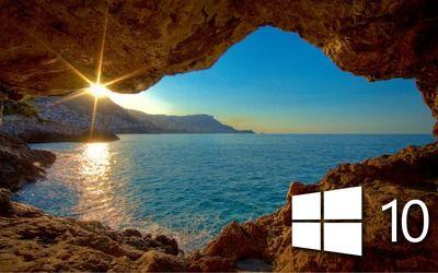 Windows 10 Over The Cave Simple Logo Wallpaper Wallpaper Windows 10 Dark Wallpaper Computer Wallpaper Desktop Wallpapers