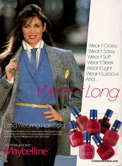80's Maybelline nail polish ad