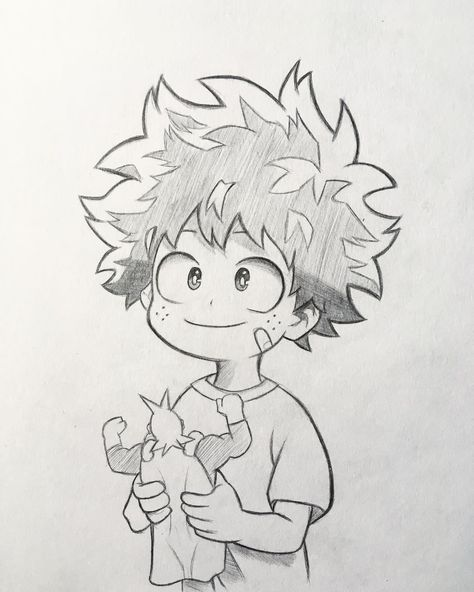 "Anime and Manga drawing ✒️ on Instagram: ""New sketch of Midoriya! 🤩 As in the survey the majority voted to upload the sketches of my drawings I will try to do more often and see a…"""