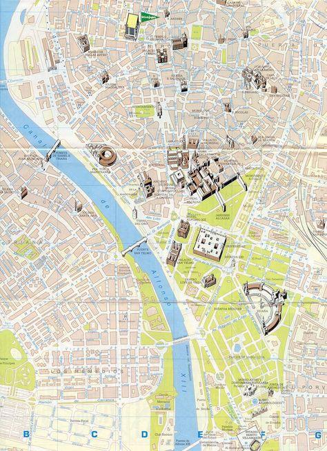 Carte De Seville Plan De Seville Avec Images Seville