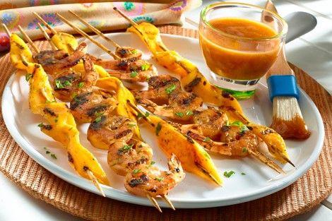 guava glazed shrimp kebabs recipes goya foods recipe guava recipes kebab recipes recipes pinterest