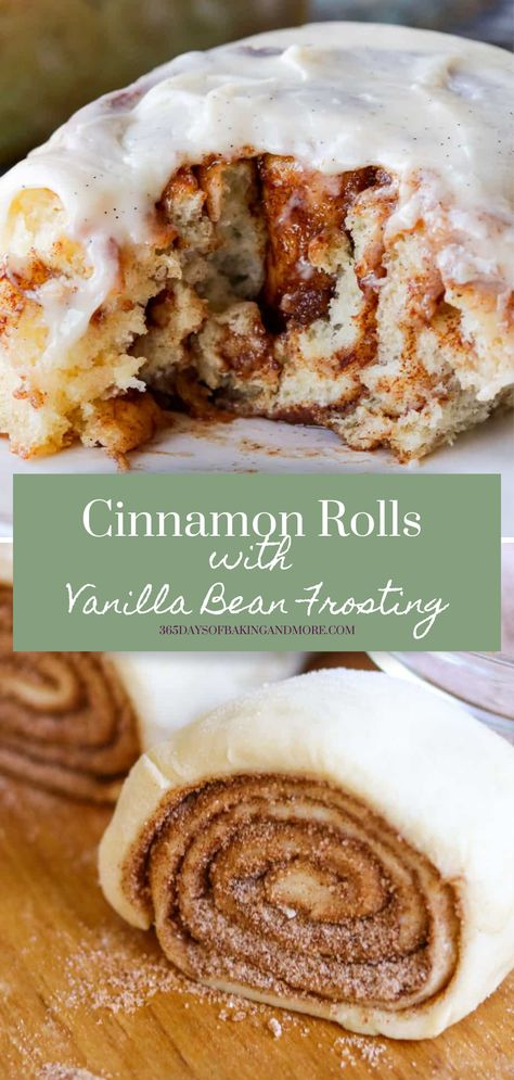 Cinnamon Rolls with Vanilla Bean Cream Cheese Frosting are made using the sweet Texas Roadhouse Roll dough brushed with butter, and sprinkled with a cinnamon/sugar mixture. Then they're rolled, sliced and baked. Once they're removed from the oven, I spread the tops with a cream cheese frosting flavored by a vanilla bean. They're the perfect menu addition to any weekend breakfast or brunch or to just enjoy with a cup of coffee!