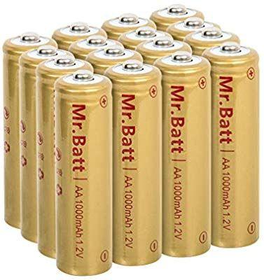 Mr Batt Nicd Aa Rechargeable Batteries For Solar Lights 1 2v 1000ma 16 Pack Solar Lights Garden Solar Lights Solar Garden