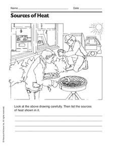 Sources of Heat Worksheet | What is heat, Thermal energy ...
