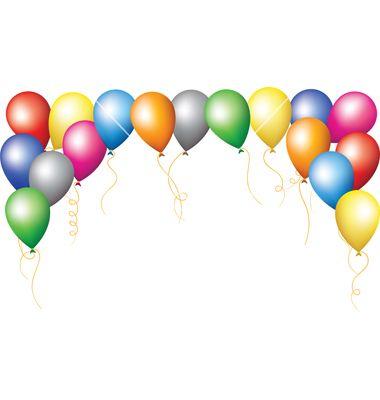 Balloons border. Awesome clip art