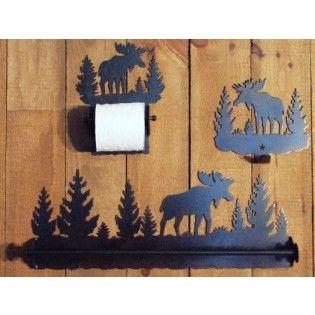 Moose Bathroom Accessories In 2020 Moose Decor Bathroom Accessories Cabin Decor