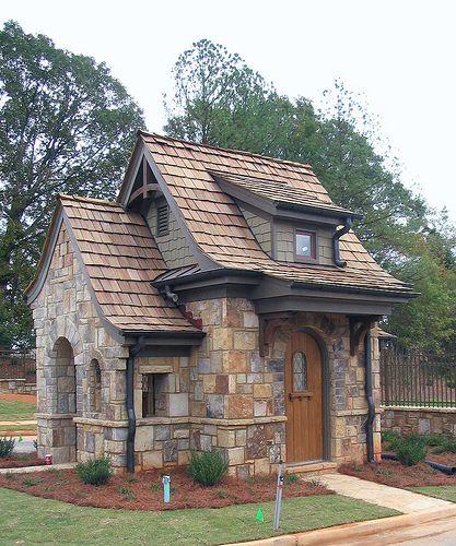 Stonewater Creek Guardhouse Lee Ryfun Architect Georgia Stone Cottage Tiny Cottage Stone Cottages