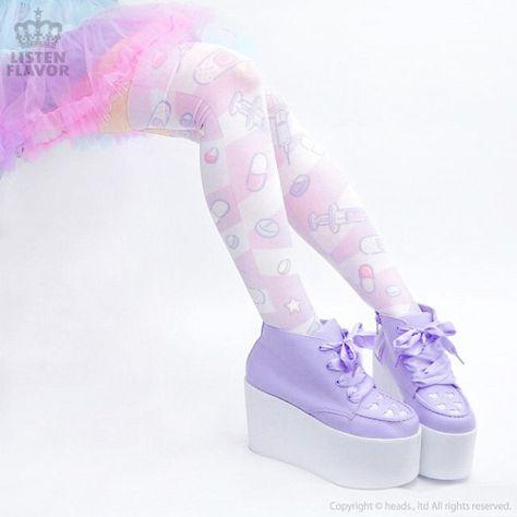 LISTEN FLAVOR,[Preorder] Okusuri Knee High Socks [Dream Color],APPAREL  listed at CDJapan! Get it delivered safely by SAL, EMS, FedEx and save with CDJapan Rewards!