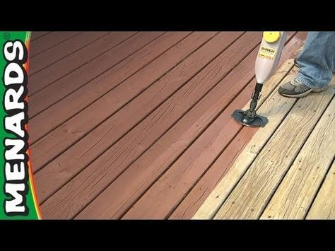 How To Clean And Restain A Deck This Old House Youtube Staining Deck Deck Paint Diy Deck