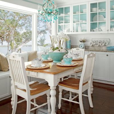 Beautiful 13 Beach Cottage Rooms   Beach Decor Dining Room With Window Seat.  #cheaphomedecor | Cheap Home Decor | Pinterest | Beach Cottages, Window And  Room