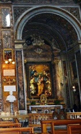Altare Di San Giuseppe A Roma Nella Chiesa Di Sant Andrea Delle Fratte A Roma Mary And Jesus Painting Jesus