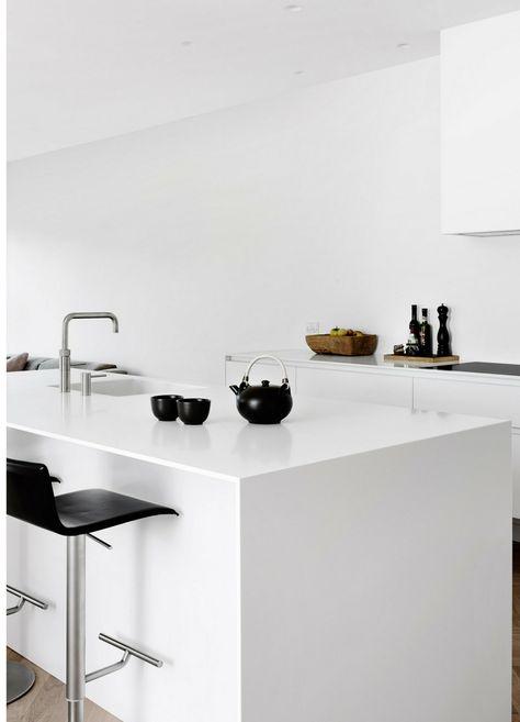 112 best Weiße Küchen Küchen-Design ganz in Weiß images on - küche weiß matt grifflos