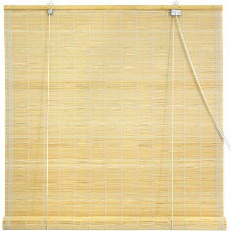 matchstick roll up blinds natural