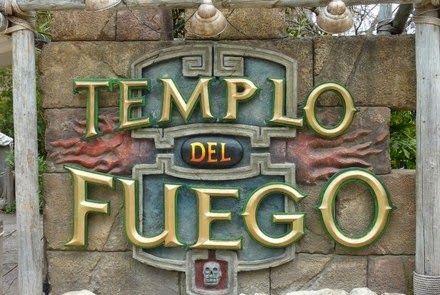Amusement Attraction Templo Del Fuego Hd Pov Portaventura Park
