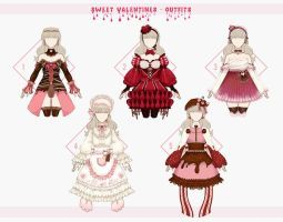 Open 4 5 Sweet Valentines Outfits By Lomenel Themed Outfits Drawing Anime Clothes Valentines Outfits