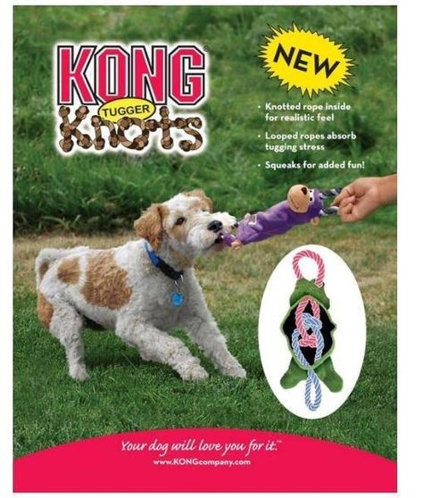 Plush Rope Toy Medium Large 19 X 4 2 X 6 5 Inches The Kong