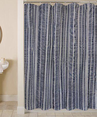Love This Indigo Seersucker Shower Curtain On Zulily