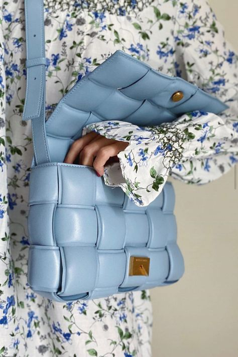 Blue is the color of the year, and the Bottega Veneta padded bags are everything right now, so combining the two only makes sense.  Shop now on Shop BAZAAR.