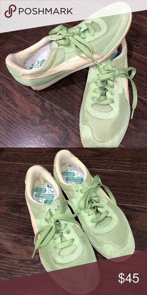 Puma Sneakers Never worn lime green with cream. Old school style but  absolutely brand new!! Puma Shoes Sneakers 8d54763df
