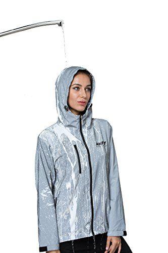 Womens Mens Rain Coat Hoodies Jogging Hiking Waterproof Windproof Jacket Outdoor