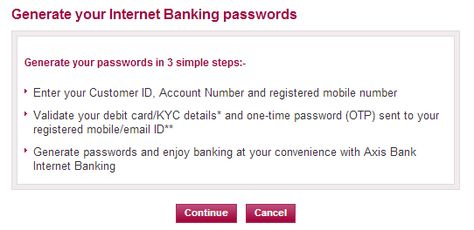 how to activate axis bank internet banking internet pinterest