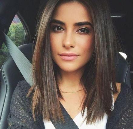 43 Ideas For Haircut Mittellang Glatt Braun Haare Schulterlang Schneiden Haarschnitt Mittellanger Haarschnitt