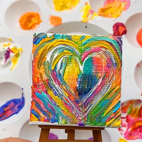 Fun and easy to make abstract heart art project.