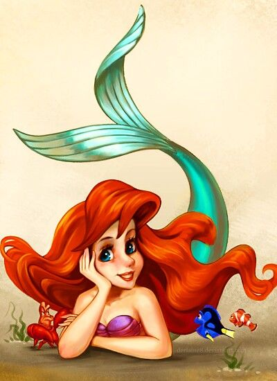 ariel sebastian dory marlin the little mermaid pinterest