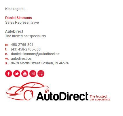 Email Signature Templates for Car Dealership   - email signature template