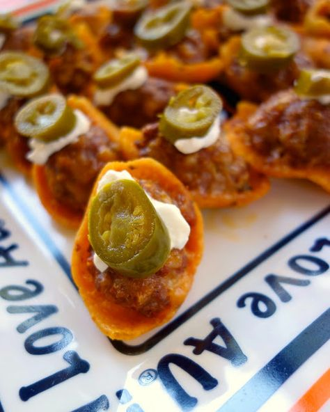 Chili Cheese Stuffed Fritos  #SuperBowl party
