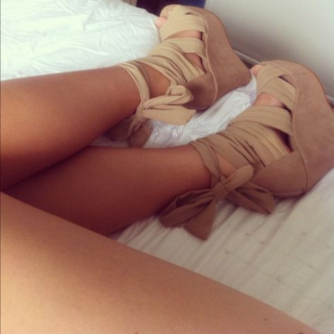 beige wedges