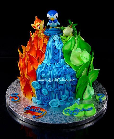 Pokemon Cake  by Kalli Cakes, via Flickr