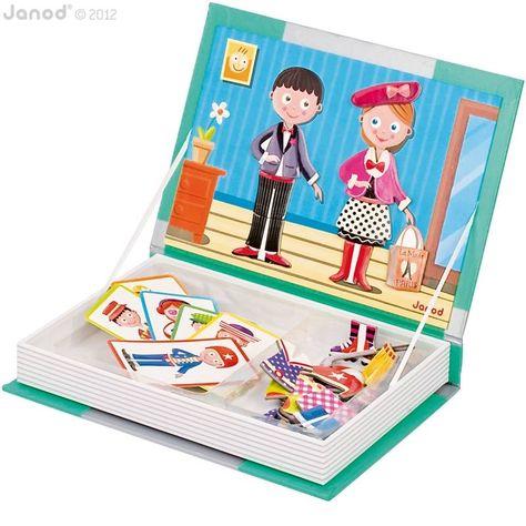 Magnetiboek fashion. Een super leuk boek vol magneten in het thema 'fashion'. Kleed mannetjes aan met de leukste kleding-magneten.