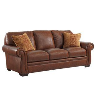 Trent Austin Design Grand Isle Sofa Wayfair Leather Sofa Leather Furniture Brown Leather Sofa