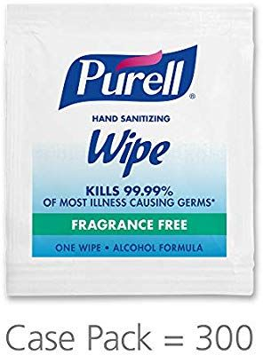 Purell Hand Sanitizing Alcohol Formula Wipes Fragrance Free 300