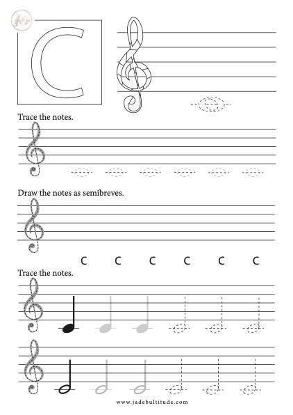 Music Theory Basics Drawing Notes Treble Clef Middle C In 2020 Music Theory Music Theory Worksheets Learn Music